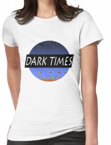 Dark Times Mario Logo Womens Fitted T-Shirt