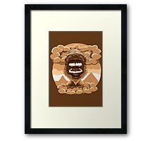 Rage Brown Luminance Framed Print