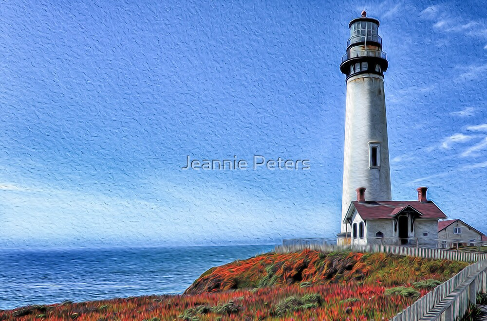 california lighthouse by Jeannie Peters