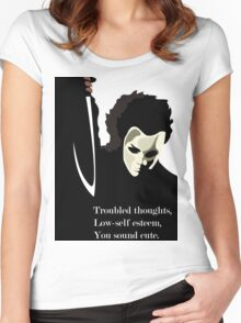 Troubled, Depressed? You sound Cute Women's Fitted Scoop T-Shirt