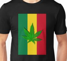 Rastafari Cannabis Leaf Flag Unisex T-Shirt