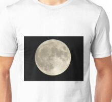 Silver Full-moon In The Sky Unisex T-Shirt