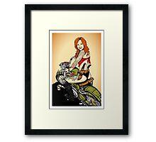 Motorcycle Girl Framed Print