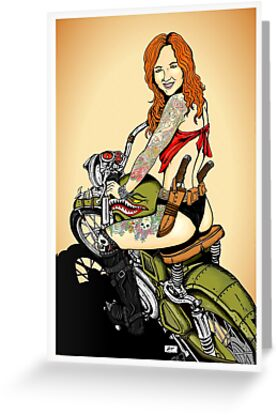 Motorcycle Girl by ZugArt