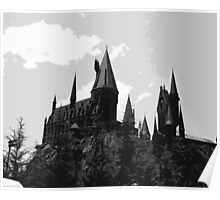 Grey-scale Hogwarts Poster