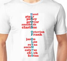 Heroes of Olympus Characters #2 Unisex T-Shirt