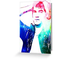 details - leather jacket Greeting Card