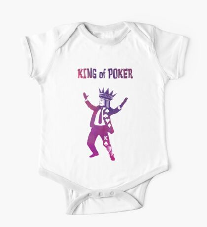 King of Poker purple One Piece - Short Sleeve