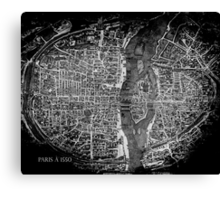 Paris à 1550 Canvas Print