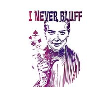 Poker - I never bluff - purple Photographic Print