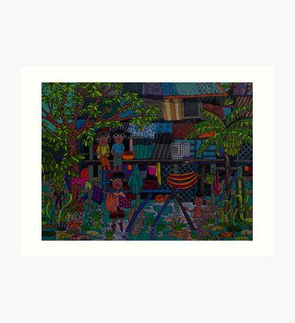 River village Art Print