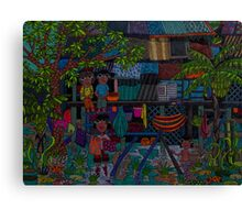 River village Canvas Print