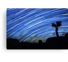 Star Trails Sweep Over Joshua Tree Night Desert Canvas Print