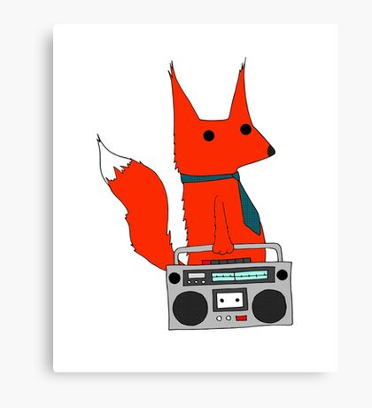 music fox Canvas Print