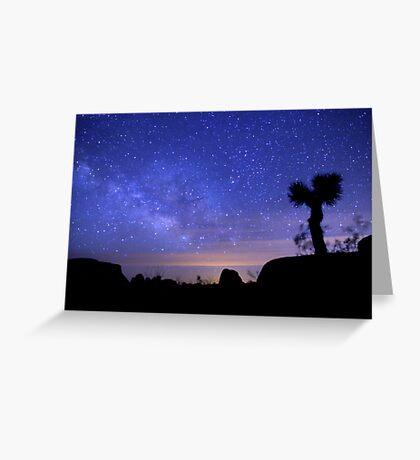 Milky Way Morning in Joshua Tree  Greeting Card