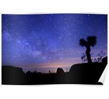 Milky Way Morning in Joshua Tree  Poster