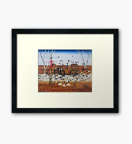 The Outback Traffic Jam Framed Print