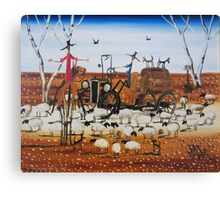 The Outback Traffic Jam Canvas Print