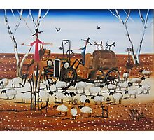 The Outback Traffic Jam Photographic Print