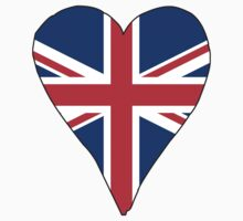 I Heart United Kingdom Baby Tee