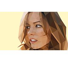 Low Poly Kate Beckinsale Photographic Print
