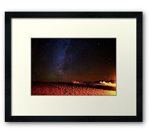 Stars Galaxy Sky over Death Valley Desert Sand Framed Print