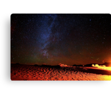 Stars Galaxy Sky over Death Valley Desert Sand Canvas Print