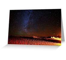 Stars Galaxy Sky over Death Valley Desert Sand Greeting Card