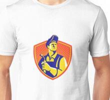 Welder With Welding Torch Shield Retro Unisex T-Shirt