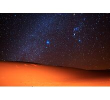 Starscape Over Death Valley Sand Dunes Photographic Print