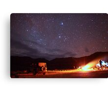 Jeep Campfire with Incredible Star Background Canvas Print