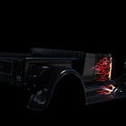 Black Ford Hot Rod Shadow Sticker by Ferenghi