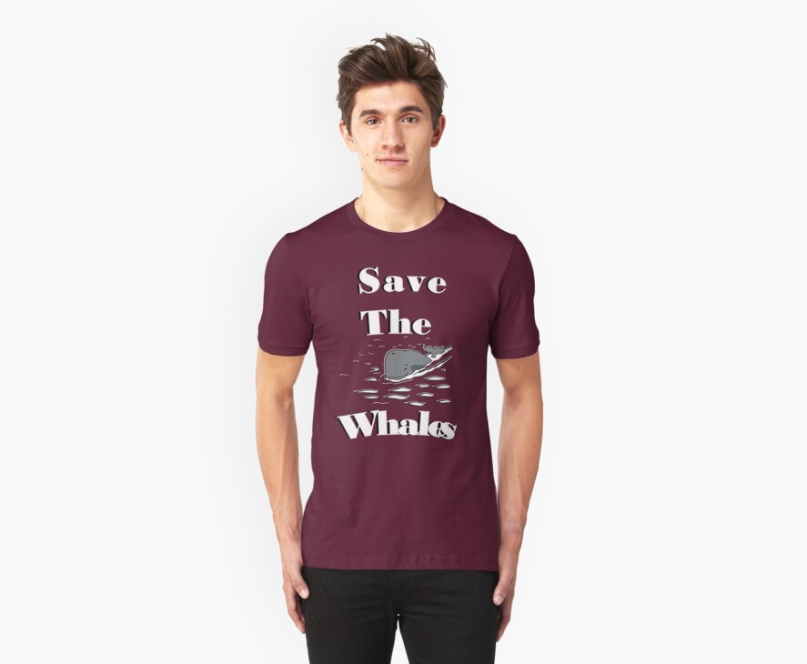 SAVE THE WHALES T-SHIRT by parko