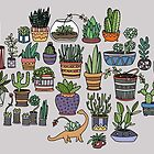 Succulent Party by alliedraws