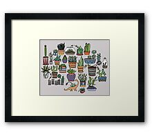 Succulent Party Framed Print