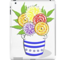 Greek Urn Vase Of Summer Flowers iPad Case/Skin