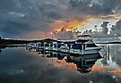 Swansea Marina Sunset by bazcelt