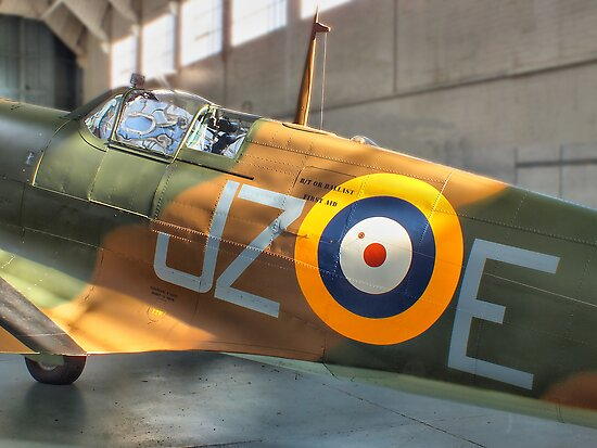 Sunlight On Spitfire - HDR by Colin J Williams Photography