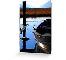 Snoozing Boat Greeting Card