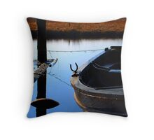 Snoozing Boat Throw Pillow