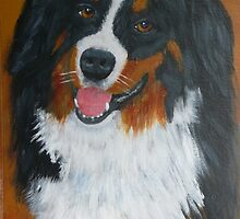 """TURK"" Bernese Mountain Dog by Woodie"