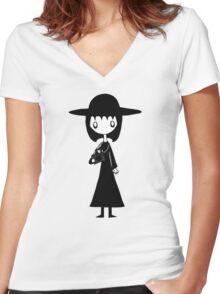 Lydia from Beetlejuice  Women's Fitted V-Neck T-Shirt