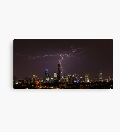 Lightning over Melbourne Canvas Print