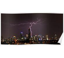 Lightning over Melbourne Poster