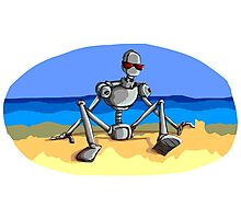 Beach Robot Photographic Print