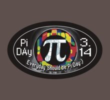 Pi Day Oval Design by MudgeStudios