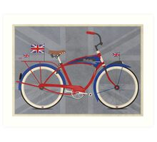 British Bicycle Art Print