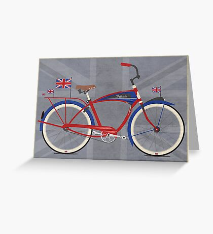 British Bicycle Greeting Card