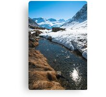 Dazzling Stream on the Julier Pass Canvas Print