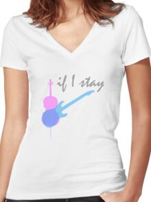 If I Stay Women's Fitted V-Neck T-Shirt